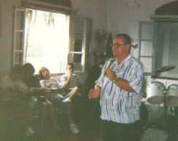 Pregação para os jovens, em retiro de 1997